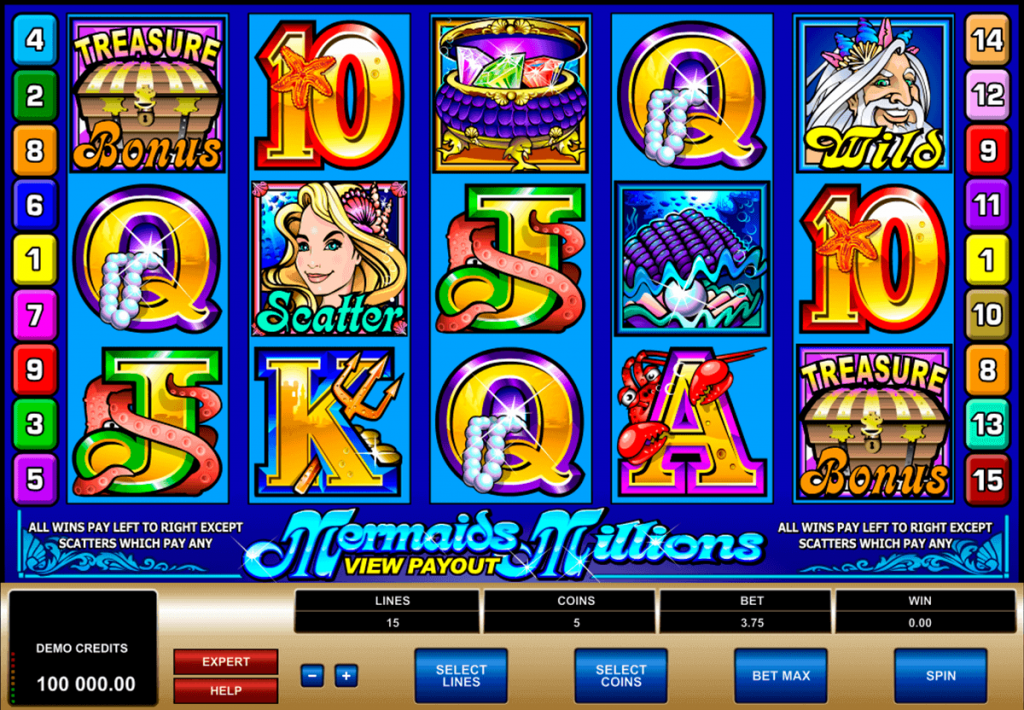 mermaids-millions slots game